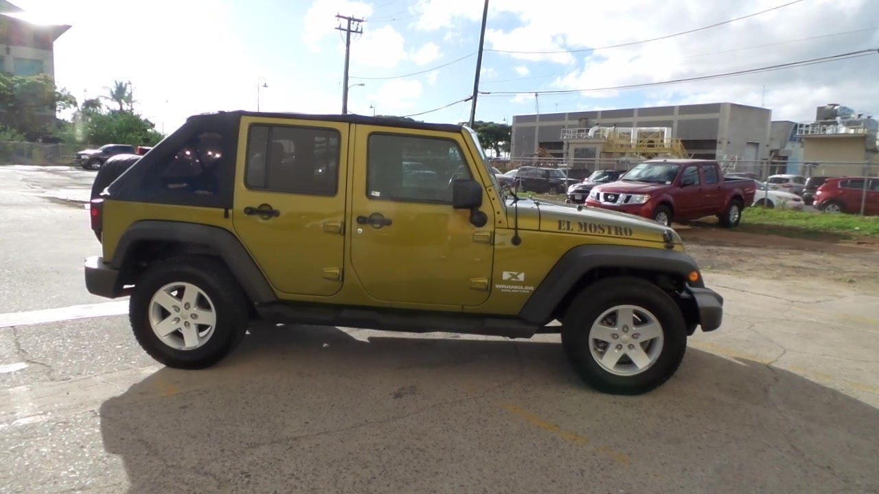 pre-owned 2008 jeep wrangler unlimited x convertible in honolulu